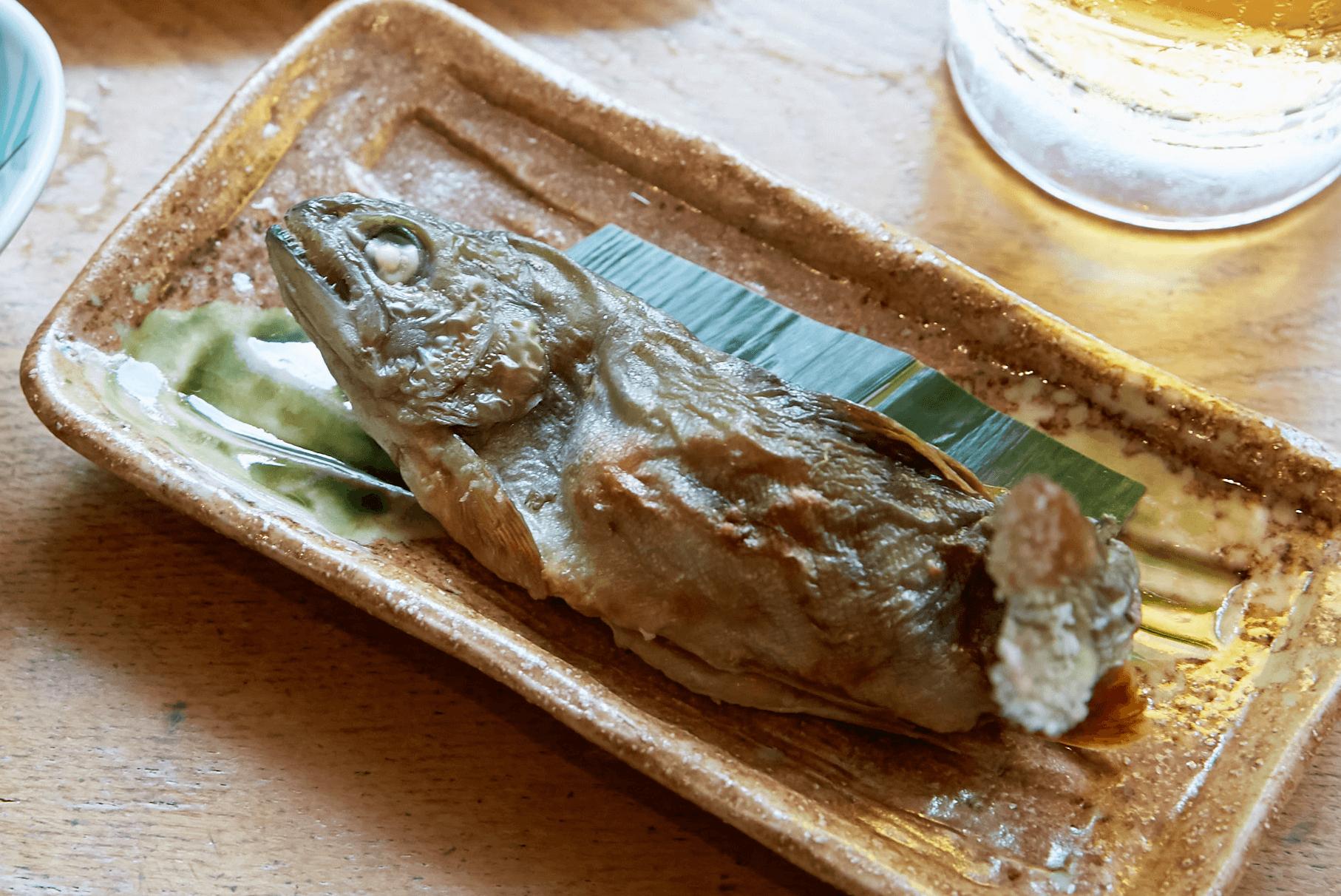 奥多摩 川魚の塩焼き