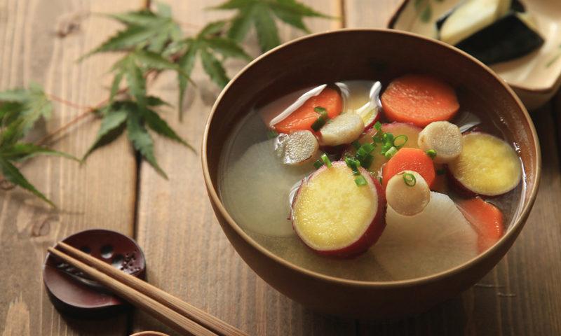 秋の根菜お味噌汁