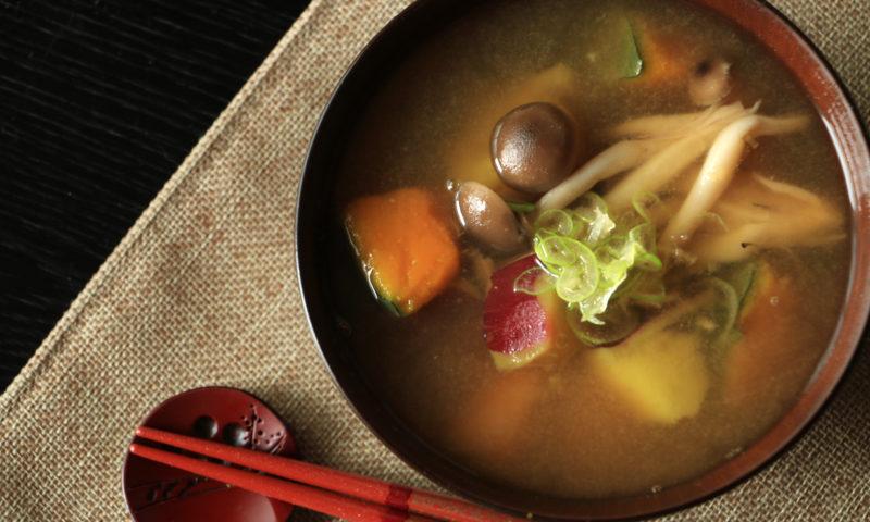 かぼちゃとさつま芋のお味噌汁