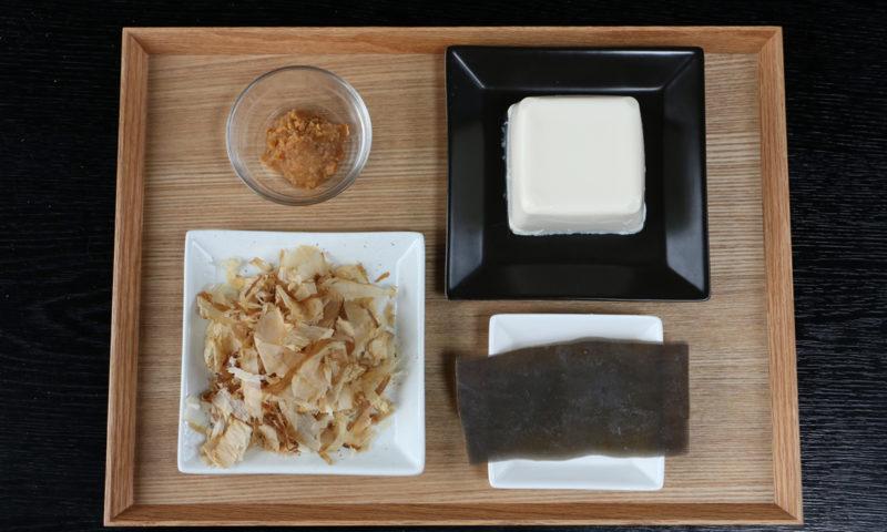 豆腐の味噌汁材料